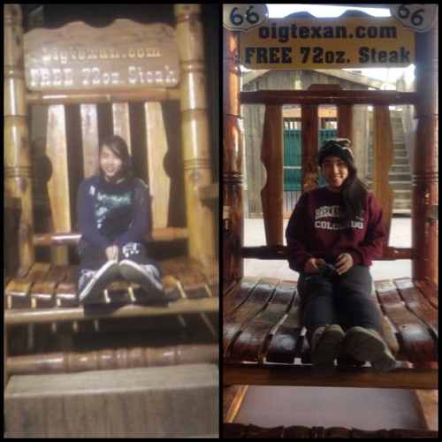 Three years later…. #thenandnow #bigtexan #chair #amarillo #texas #orchestra #senior #freshman #ifeelold 😔