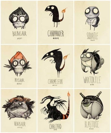 pokemon segun Tim Burton