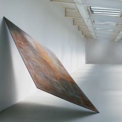 heathwest:  Richard Serra Balanced, 1970  Hot-rolled steel  97 x 62 x 1 in.