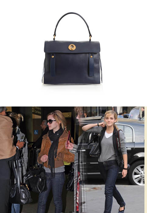 Emma often wore a Yves Saint Laurent Muse II Bag.