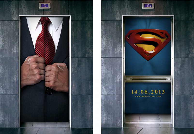 Creative advertising for the #Superman campaign.