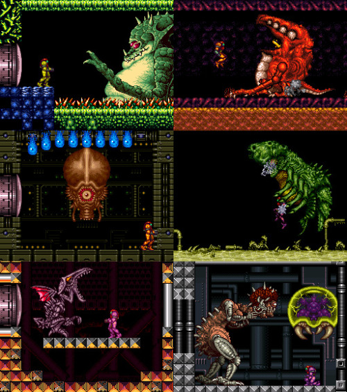 Super Metroid Bosses