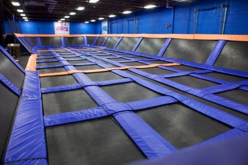 tiiikwid:  sacaswagea:  ok but look at these trampolines  this place is fun as fuck for 10 minutes and then its tiring and very sweaty