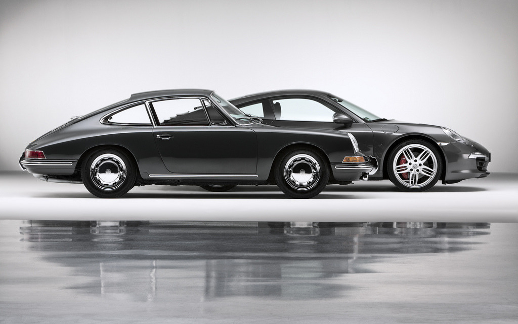 automotivated:  1964 Porsche 911 2.0 Coupé & Porsche 911 Carrera 4S Coupé (991) (by Auto Clasico)