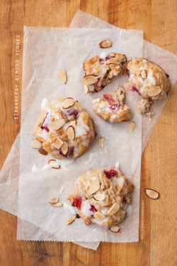 Strawberry Almond Scones