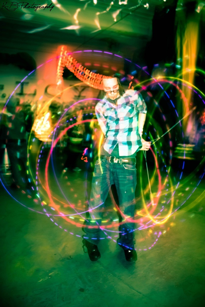 LED Poi at Dubquest in St. Louis, Missouri Kelly Bayer Photography