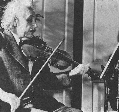 A Moment of Zen: Albert Einstein playing the violin  (Related: Einstein and his love of music)