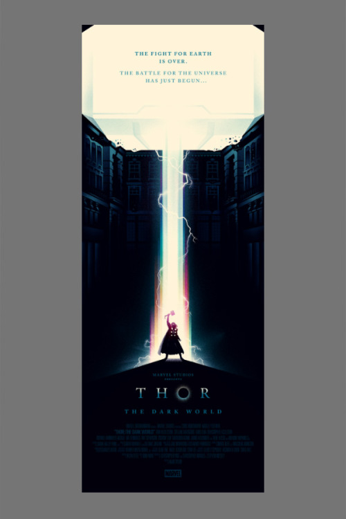 THOR! The ultimate poster. Olly Moss is the undisputed king of the poster. #thor #design