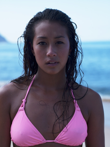 surfer Kelia Moniz Oahu, Hawaii Summer 2011 image ©Angela Boatwright