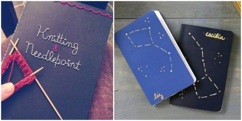 DIY 16 Embroidered Notebooks