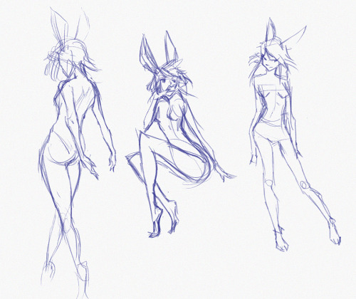 how about i just draw bunny girls for the rest of 2013