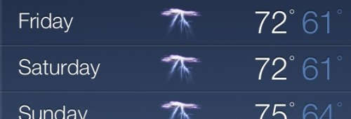 xobybr:  breshine:  xobybr:  Noooooo  At least it'll be warm storms?  No but thats the weekend of the anime convention im going to D= And some of the stuff is usually outside  No I know that, I'm going again this year I just know last year was freezing D: I guess I'm just dumb and will take warm rain over cold air haha