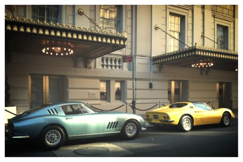 His & Hers vintage Ferraris at The Pierre, A Taj Hotel.