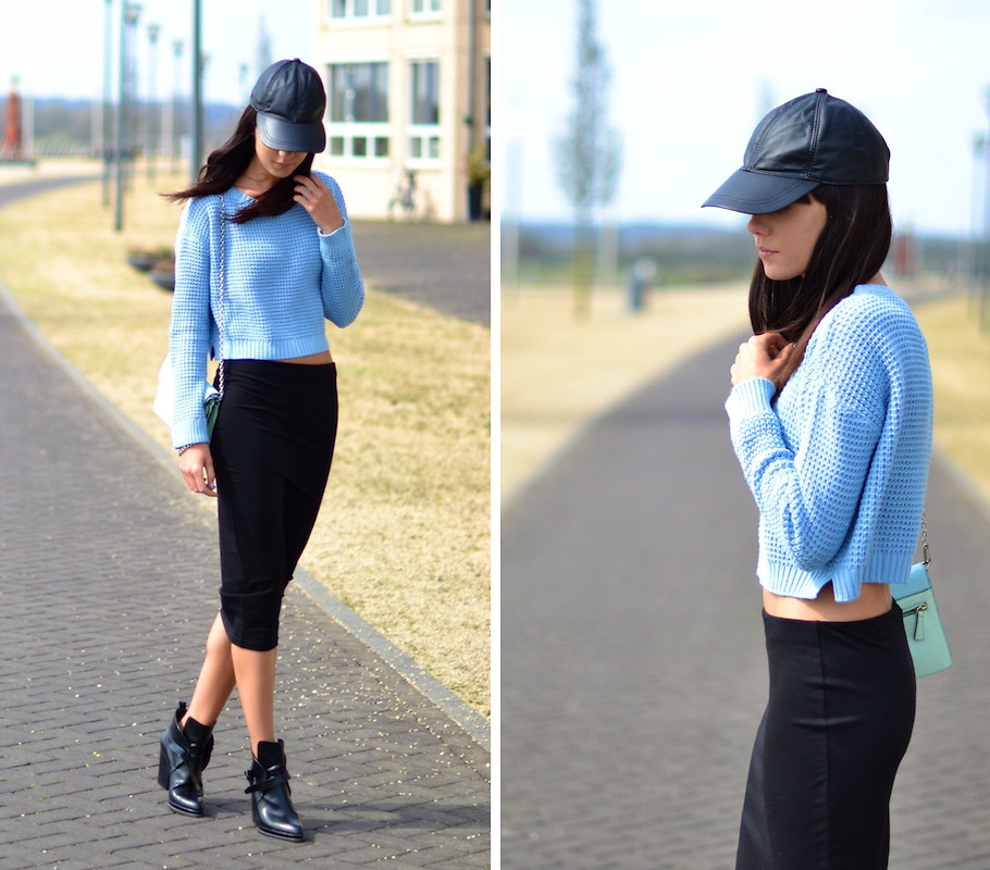 lookbookdotnu:  Black and blue (by Lucy De B.)