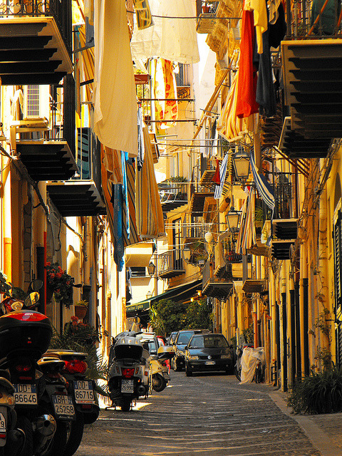 visitheworld:  Cozy atmosphere in a typical street of the old town of Cefalù, Italy (by Miguel Virkkunen Carvalho).