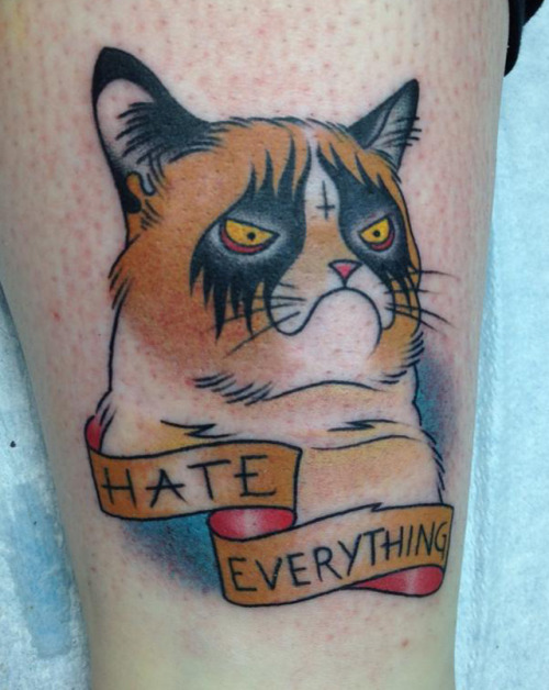 laughingsquid:  Grumpy Cat Tattoo