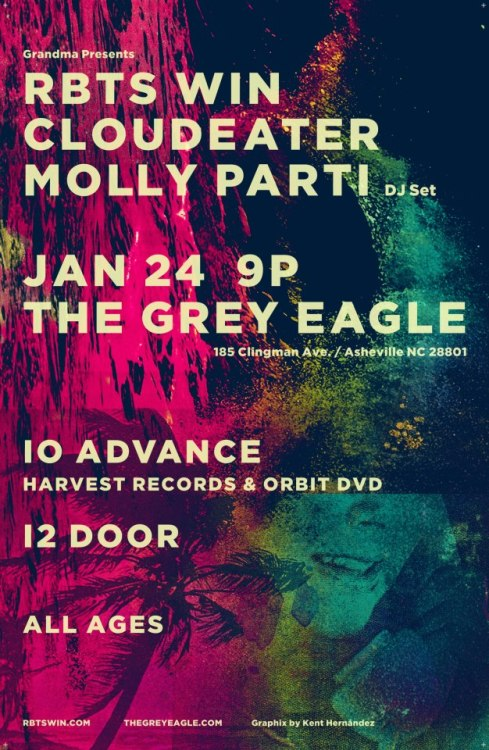 LIVE AT: THE GREY EAGLE  Thursday January 24th 9pm $10 Adv $12 Door ALL AGES TICKETS AVAILABLE AT http://www.thegreyeagle.com/ HARVEST RECORDS & ORBIT DVD