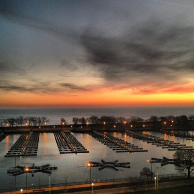 Good morning from the harborhood !!  #chicago #sunrise #lizharbor5