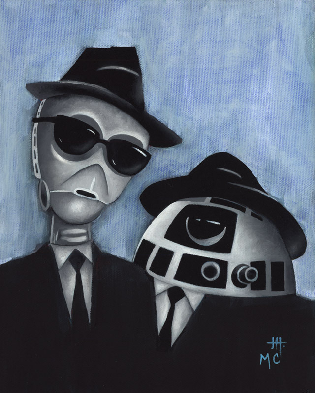 "mikecappart:  ""We're on a Mission from Leia"" Oil on Canvas Collaborative piece painted by Mike Capp & Justin Hillgrove"