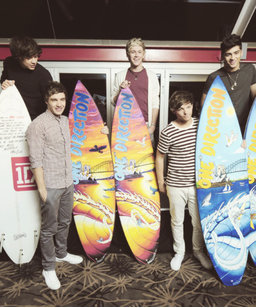 niall-zayn-liam-harry-louis:  one direction surfboards. yes please!
