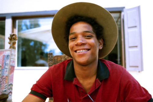 blackgirlphresh:  jonathonyork:  Lee JaffeJean-Michel Basquiat, 1983 This series of photographs give a colorful and intimate look into the process of iconic artist Jean-Michel Basquait as he was creating one of his own works. Brooklyn-based Basquait was in Jamaica when these shots were taken.  look how free he looked in jamacia…