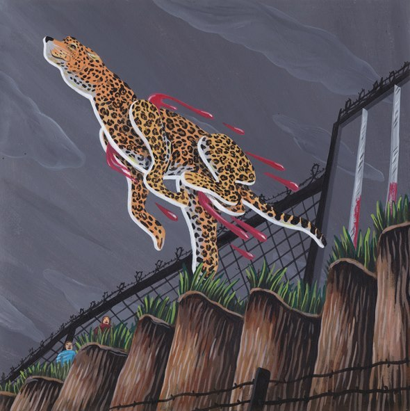 "Never Gonna Stop Me, 20137"" record sleeve for Secret 7by Brecht Vandenbroucke"