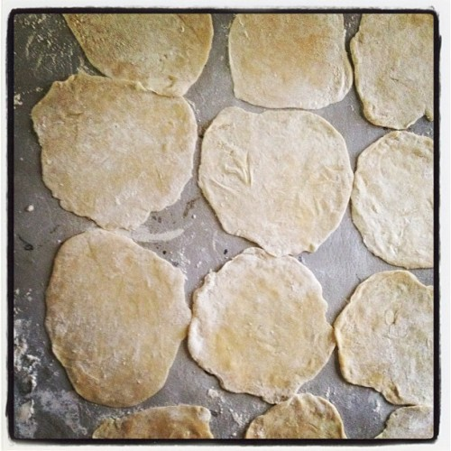 Homemade tortillas. Making queso fresco quesadillas in a bit.