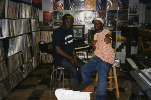 Dilla with Peter Adarkwah in his home studio / late 90s… (via DummyMag)