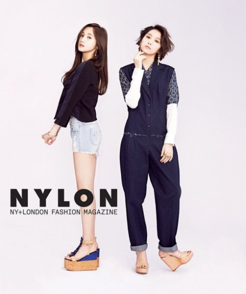 korean-dreams-girls:  YooAra and YooYoung (Hello Venus) - Nylon Magazine Pic