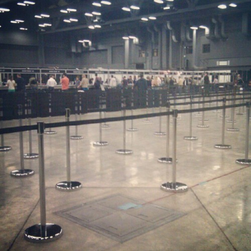 12:50pm, no wait for SXSW badge pickup at the convention center at the moment #360sxsw #360sxswi #sxsw by hellotinaphan http://instagr.am/p/WkS5zdosow/