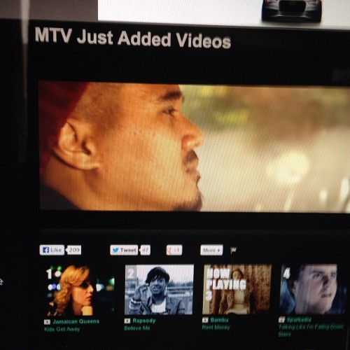 cknow7:  #RentMoney on MTV.com and its #3 in rotation! Login leave a comment. @bambudepistola @rockyrivera  #bangbang #MTV #music #video #Bambu #BeatRockMusic #KnowledgeEntertainmentManagement