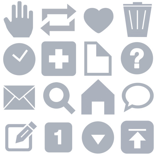 "unwrapping:  Iconic Tumblr: Tumblr recently added the ignore hand icon to its dashboard icons, as seen on messages in your inbox. Think ""talk to the hand"" and not ""high five."""