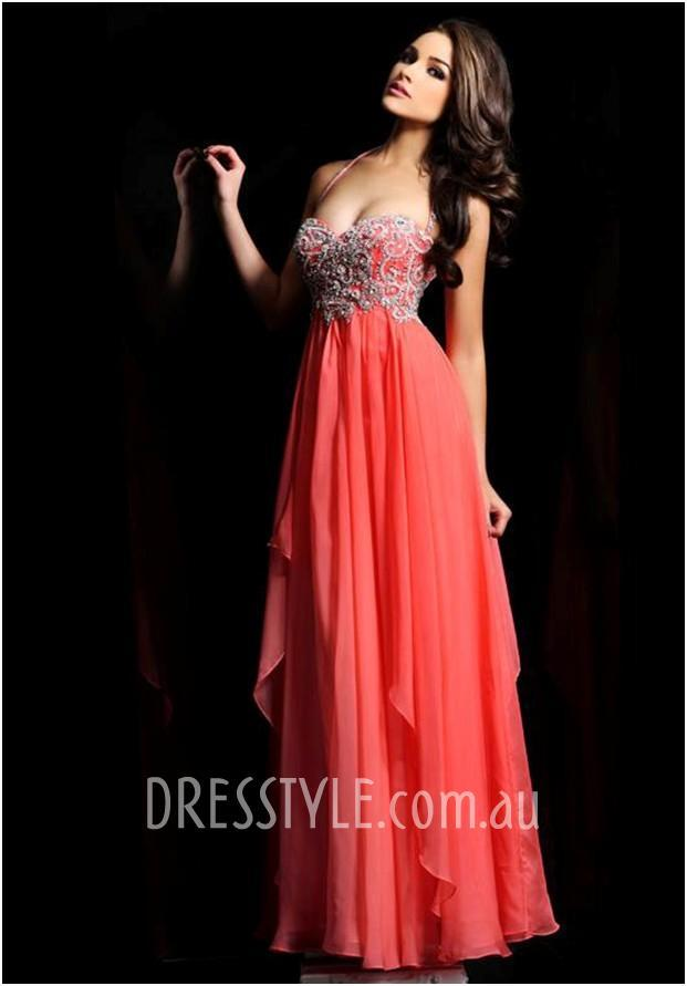 Beaded Embroidered Sweetheart Prom Dress