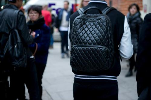 H by Harris featured on Mr Porter Tumblr.  mrporter:  The Trends | Backpacks  Equal parts practicality & style, brands from Alexander Wang to Givenchy are putting their mark on the trend