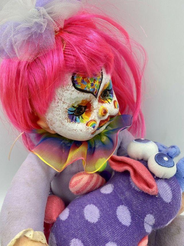 source #uploads#weirdcore#oddcore#nostalgia#doll#creepy#weird#odd#clown#rainbowcore#playcore#toywave