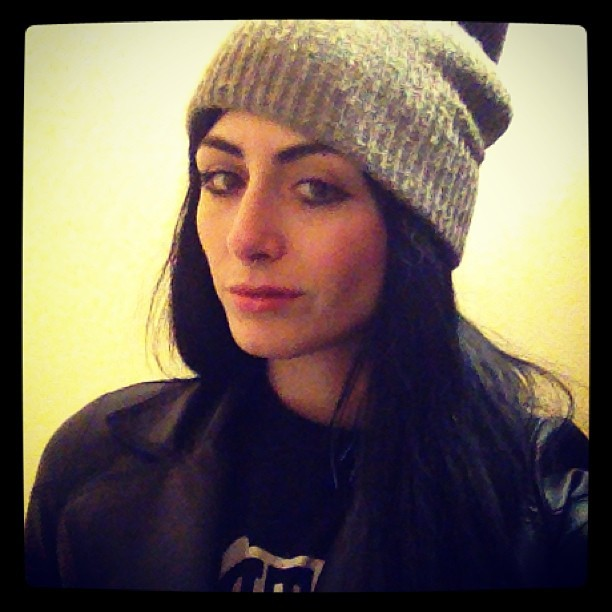 Just hit Denver! Stoked its still beanie and black leather  weather!  (at Buffalo Boyd's Saloon)