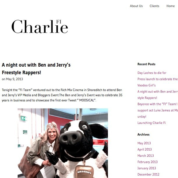 Check my finished website / blog out … Http://www.charlie-fi.co.uk