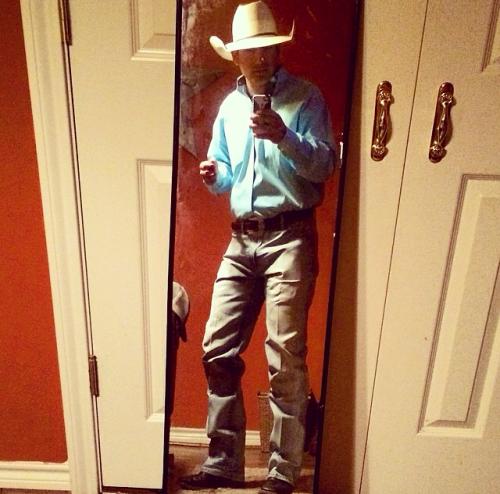 Cowboy up!  Damn hot