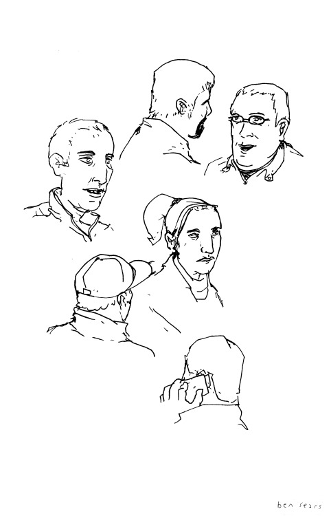 Attempted to sneakily draw people at dinner tonight