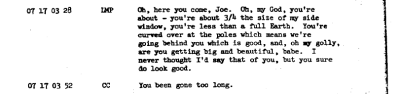 distractionsinspace:  Sexual innuendos in space Apollo 10 audio transcripts
