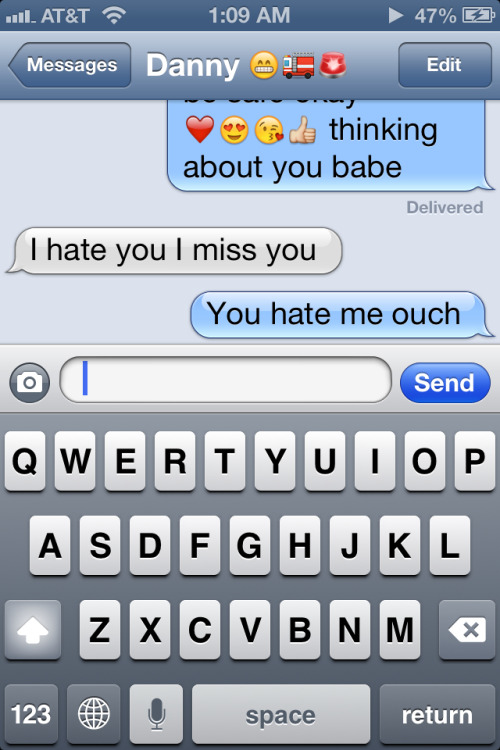 This made my night he misses me (: