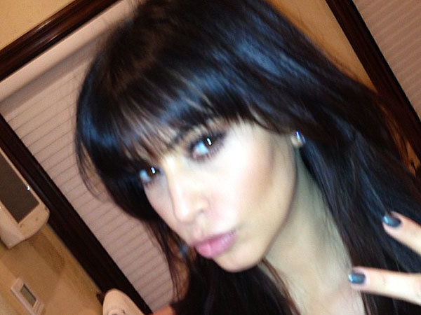 """I did it! Blunt bangs!!!""    - Kim Kardashian, showing off her brand-new hairdo, on Twitter"