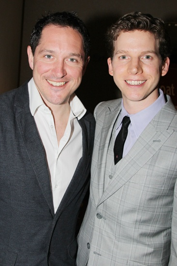 Matilda's Bertie Carvel and Kinky Boots' Stark Sands are both nominated in the same Tony category—but there's no competition here!