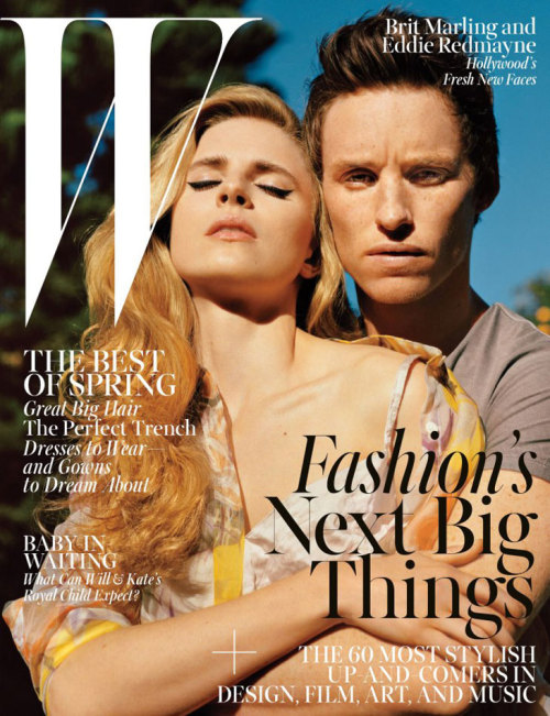 Brit Marling & Eddie Redmayne by Alasdair McLellan (W magazine, April 2013)