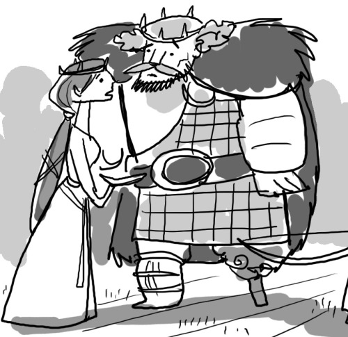 barryjohnson77:  Brave story thumbnail drawing of mine. Elinor and Fergus