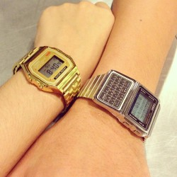 Rewarded ourselves with pair watches 😊 #Casio