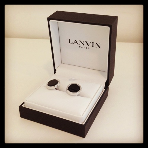 mrporter:   Double cuff shirt with your tux? Lanvin's silver-plated cufflinks are perfect. SHOP at > http://mr-p.co/532mlf