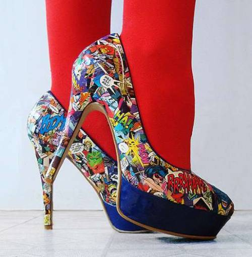 DIY Comic Book Heels!