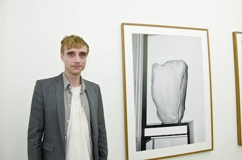 Asger Carlsen and one of his works