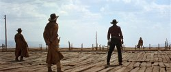 netflixia:  Once Upon a Time in the West (1968) PG-13 - 2hr 45m This Sergio Leone classic, a tribute to Hollywood Westerns, stars Henry Fonda as Frank, a deft gunslinger hired by the powerful owner of a railroad conglomerate to kill anyone who derails the project. But Frank contends with the wrong person when he murders Brett (Frank Wolff), a landowner, prompting Brett's wife (Claudia Cardinale) to hire two renegades (Charles Bronson and Jason Robards) to go after Frank. 8.7/10 - IMDB View Trailer || Add/Watch on Netflix  I honestly can't decide whether I prefer this or The Good, the Bad, and the Ugly as far as the best western ever. If you haven't seen this masterpiece of a film, add it to your Netflix queues!